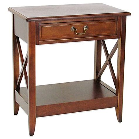 bed bath and beyond side table side table with 1 drawer in brown bed bath beyond