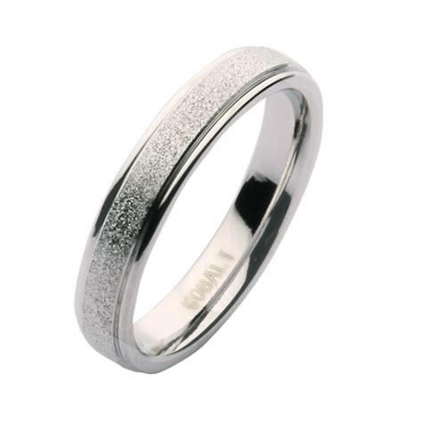 4mm cobalt sparkle wedding ring band cobalt rings at elma uk jewellery