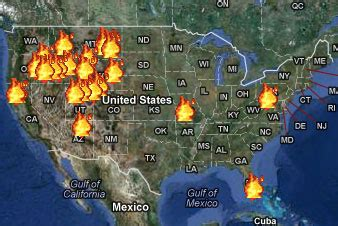 interactive wildfire map shows outbreaks  real time