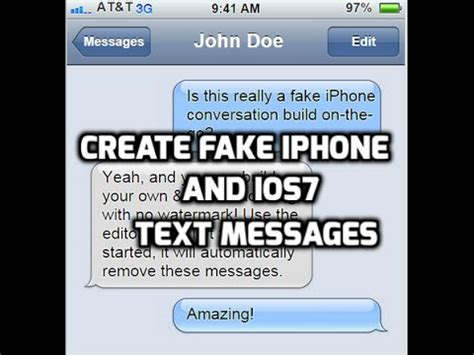 how to easily create iphone text messages for