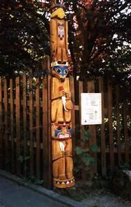 Totempfahl Fox BaerArt Totempoles And Sculpturen Br