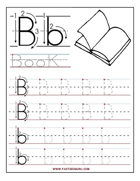 printable letter b tracing worksheets for preschool tracing letter b color coloring pages