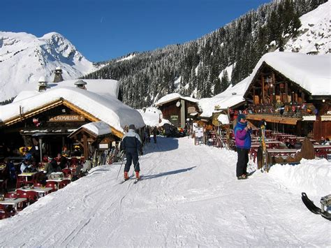Skiing in Chatel, France Pictures Page 2005. Goat village ...