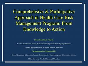 Comprehensive & Participative Approach in Health Care Risk ...