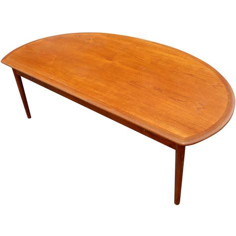 "Their menus is always very creative and fresh. 60"" Mid Century Modern Vintage Half Moon Coffee Table | eBay"