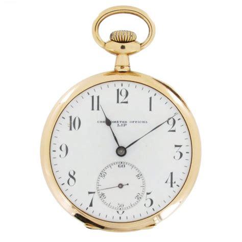 lip montre gousset chronom 232 tre en or jaune ancienne