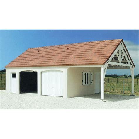 Garage Double Avec Auvent  Modèle 171
