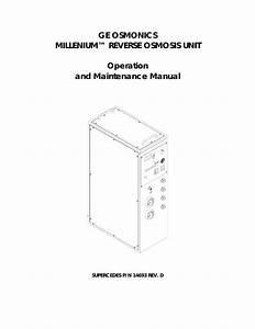 Ro Operation And Maintenance Manual