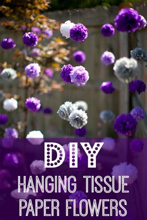 diy hanging tissue paper flowers tutorial bigdiyideascom