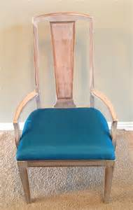 brush dining chair with teal cushion home