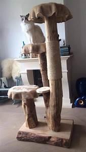 More For Cats Kratzbaum : diy handgemaakte boomkrapbaal boomstam krabpaal houten krabpaal cat tree wooden cat ~ Whattoseeinmadrid.com Haus und Dekorationen