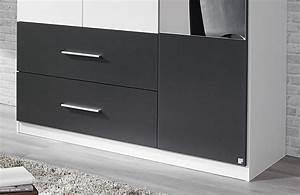 Kleiderschrank Grau Weiß : rauch alvor kleiderschrank wei grau m bel letz ihr online shop ~ Markanthonyermac.com Haus und Dekorationen