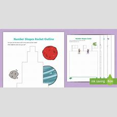 * New * Number Shapes Outlines And Matching Activities Resource