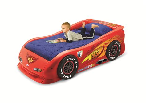Tikes Lightning Mcqueen Toddler Bed race car bed for toddlers great for