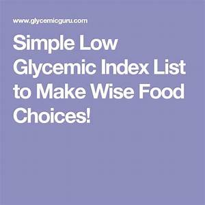 17 Best ideas about Glycemic Index on Pinterest