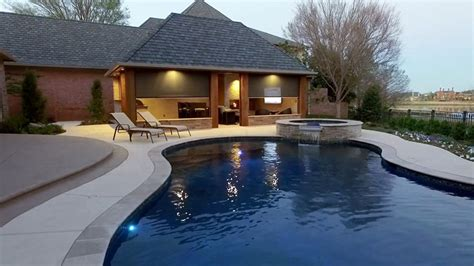 pool and outdoor kitchen designs pool cabana design with outdoor kitchen designing idea 7523