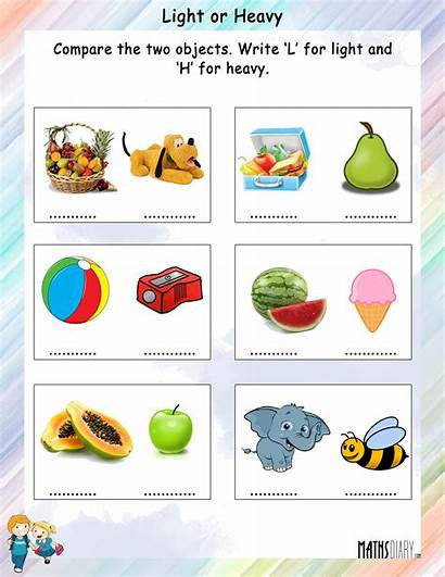 Heavy Comparison Objects Worksheet Compare Between Worksheets
