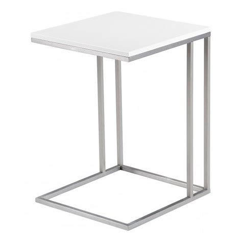 table d appoint table d appoint laqu 233 e enora blanc achat vente table