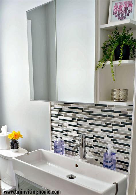 inviting home  modern functional bathroom update