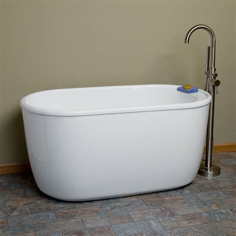 soaking tub 55 quot vada acrylic soaking tub with tap deck with no faucet