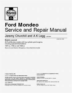 Wiring Diagrams And Free Manual Ebooks  All Ford Mondeo Models Service And Repair Manual