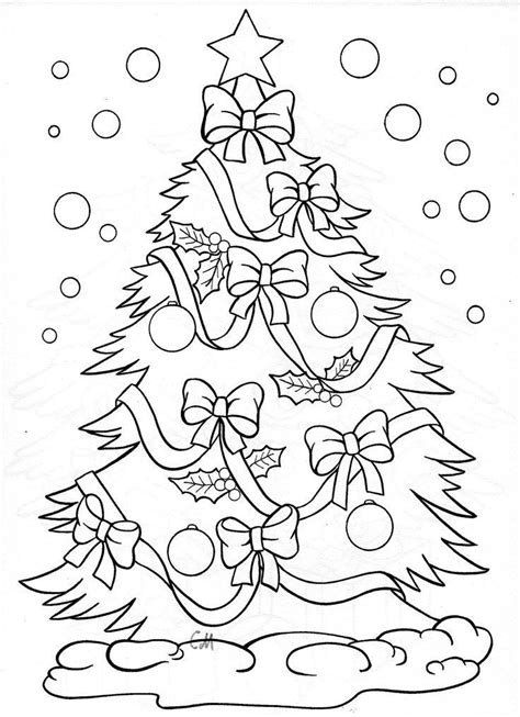 christmas tree coloring page coloring pages