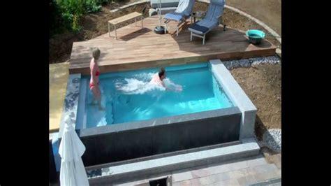 mini pool selber bauen schwimmbadbau dokumentation eines pool im garten im zeitraffer