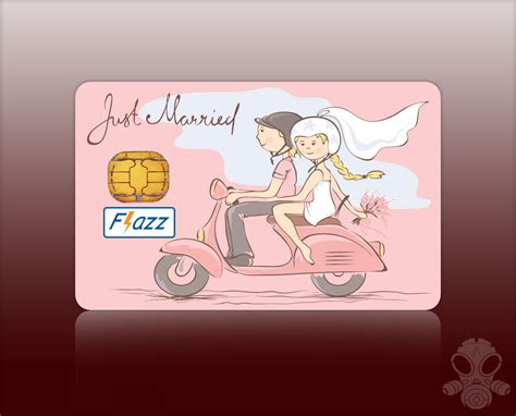 Flazz Card Custom  Just Married Tukangprint