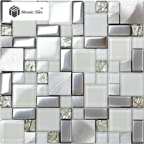 Metallic Bathroom Tiles by Glitter Fireplace Glass Glitter Mosaic Tile Metallic