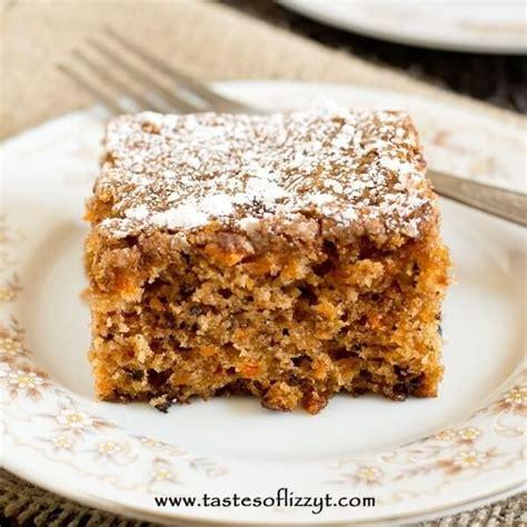 carrot walnut cake simple  homemade snack cake recipe
