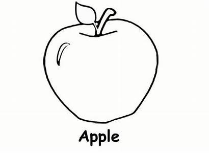 Coloring Apple Printable Pages Preschool Worksheets Fruit