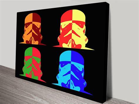 Star Wars Warhol Popart Canvas Prints Australia