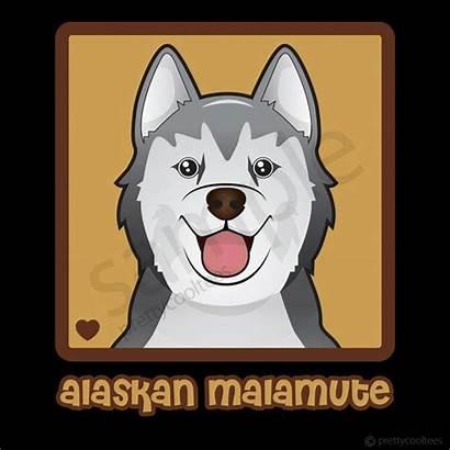 Malamute Cartoon Alaskan Heart Dog Cartoons Husky