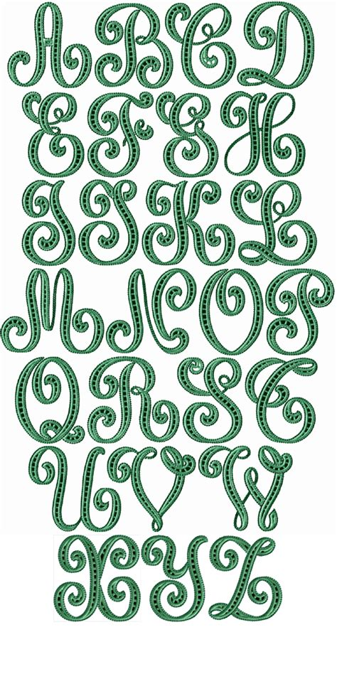 abc designs lafayette cutwork font machine embroidery designs  hoop ebay