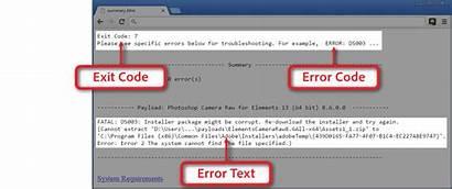 Photoshop Elements Installation Adobe Exit Error Code