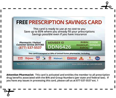 prescription savings card ddn