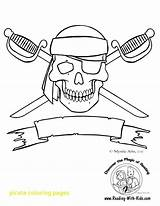 Pirate Flag Coloring Pages Skull Getdrawings sketch template