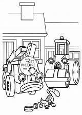 Builder Bob Coloring Printable Friends Sad sketch template