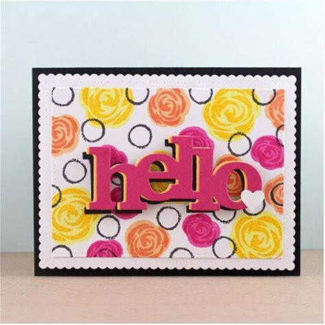 word  metal cutting dies stencils  card making