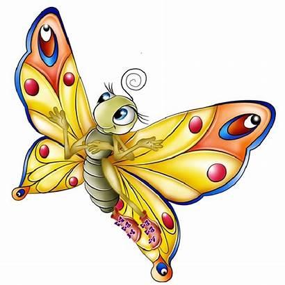 Butterfly Cartoon Clip Clipart Transparent Butterflies Background