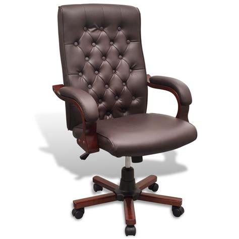 fauteuil de bureau cuir marron la boutique en ligne fauteuil de bureau chesterfield en