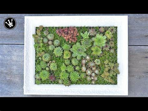 Diy Wanddeko Ideen Mit Pflanzen Und Bilderrahmen by 21 Diy Mit Sukkulenten Bepflanzter Bilderrahmen