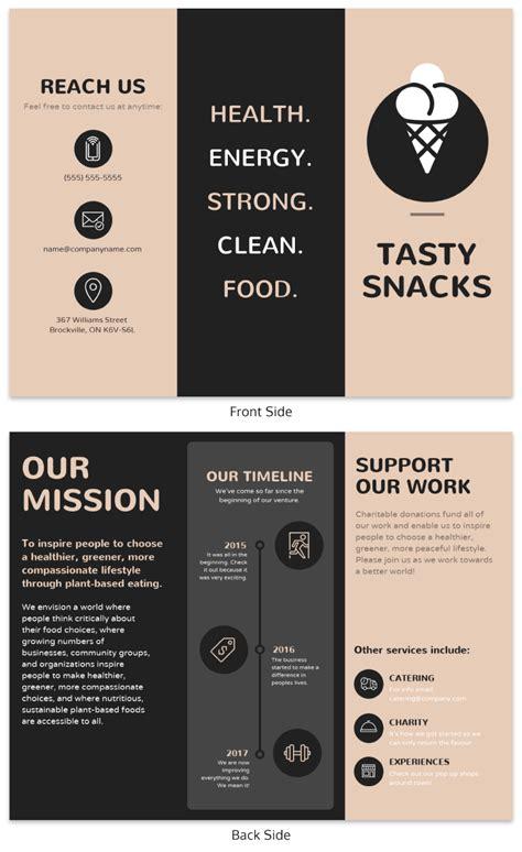 brochure templates  design tips  inform