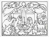 Coloring Printable Nativity Popular sketch template