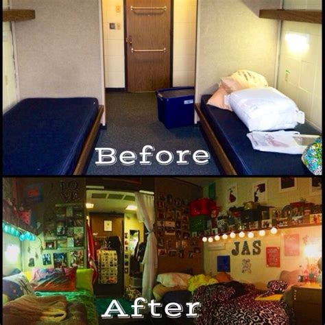 College Dorm Transformation  College Pinterest