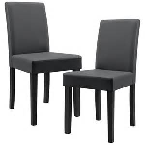 stühle leder esszimmer 2x en casa moderne esszimmer stühle kunst leder polster stuhl hochlehner ebay