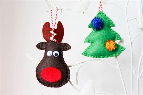 reindeer and tree felt christmas decorations beak up crafts