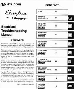 1999 Hyundai Elantra And Tiburon Electrical