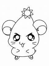 Hamtaro Coloring Library Clipart sketch template