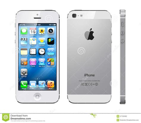Apple iphone 5 white editorial photography. Image of